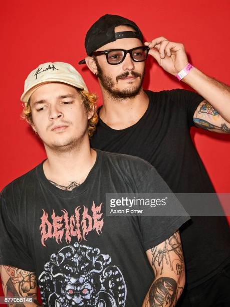 Jordan Kelley and Jason Huber of Cherub are photographed for Billboard Magazine on August 19 2017 at the Billboard Hot 100 Music Festival at...