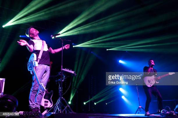 Jordan Kelley and Jason Huber of Cherub perform during the 2014 Bonnaroo Music & Arts Festival on June 12, 2014 in Manchester, Tennessee.
