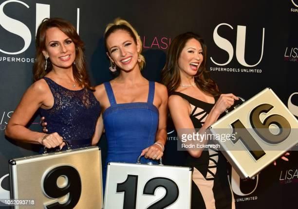 Jordan Kimball Sarati and Patricia Kara attend SU Magazine's 18th Anniversary Celebration at Boulevard3 on October 13 2018 in Hollywood California
