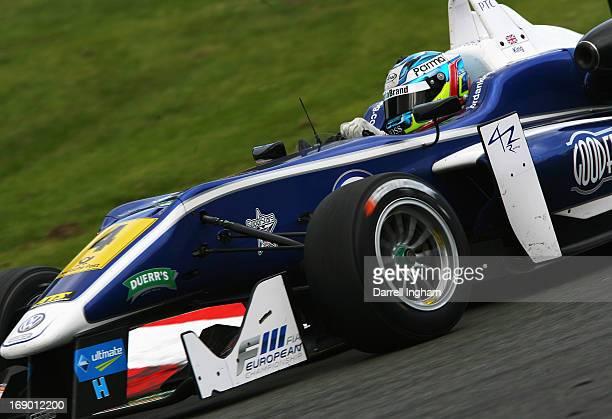 Jordan King of Great Britain drives the Carlin Dallara F312 Volkswagen during the FIA European Formula 3 Championship race at the Brands Hatch...