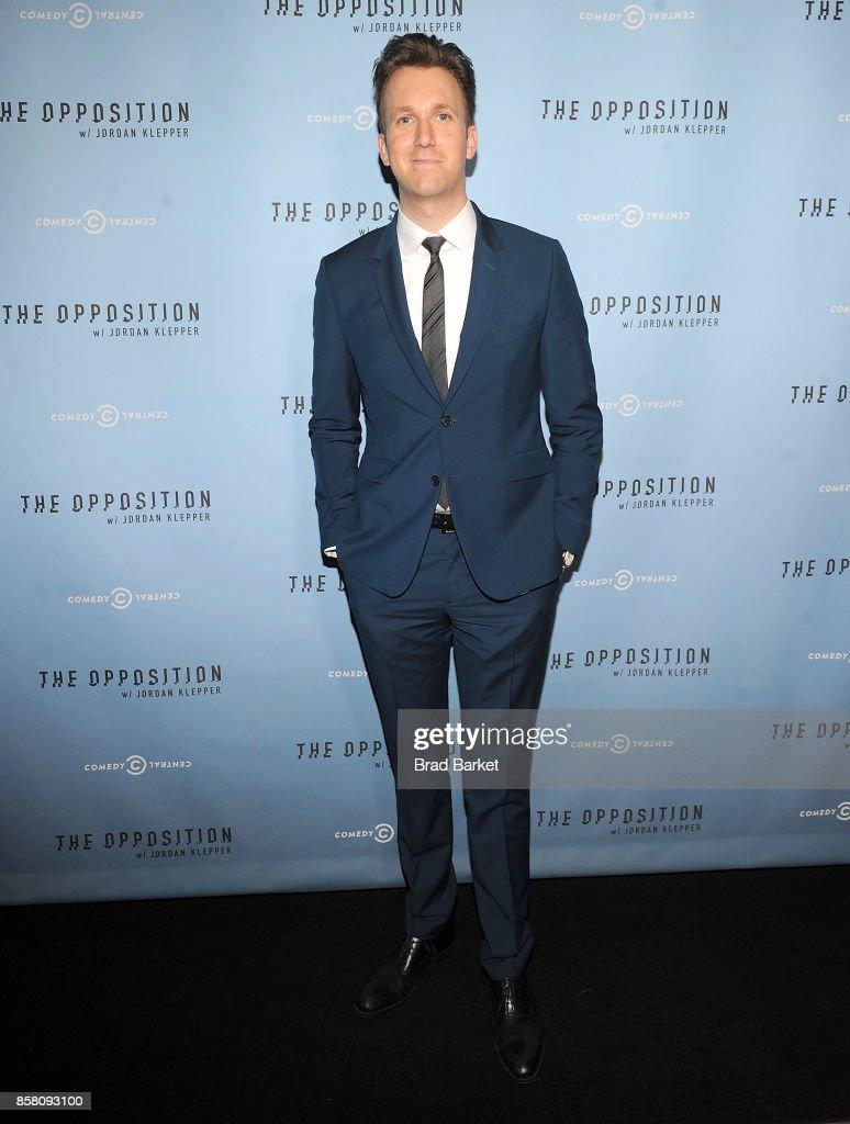 Jordan Klepper attends Comedy Central's 'The Opposition W/ Jordan Klepper' Premiere Party at The Skylark on October 5, 2017 in New York City.
