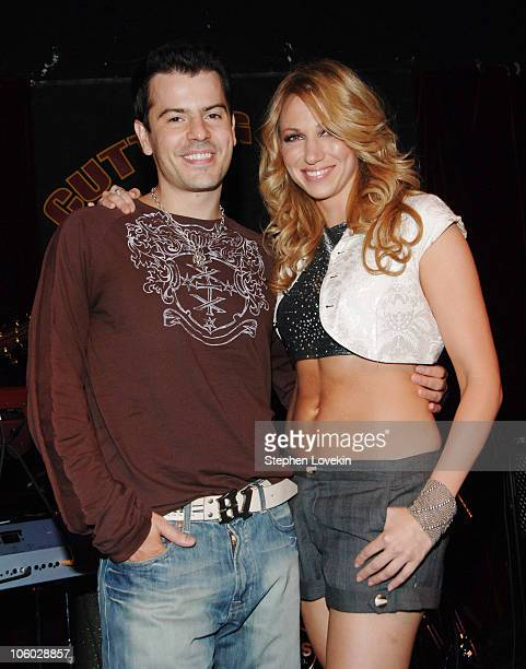 Jordan Knight and Deborah Gibson during Jordan Knight Performs Love Songs at The Cutting Room at The Cutting Room in New York City NY United States