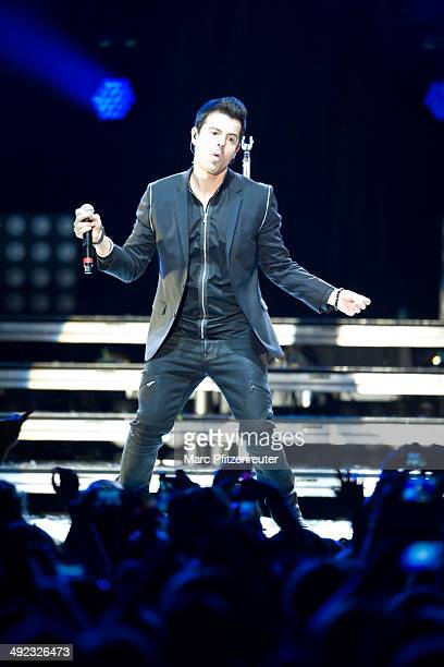 Jordan Knight of American Boygroup New Kids On The Block performs during their 'Let's get Intimate Tour 2014' at the Palladium on May 19 2014 in...