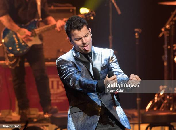 Jordan Knight of New Kids On The Block perform in concert celebrating the 30th anniversary of 'Hangin Tough' at The Apollo Theater on October 7 2018...