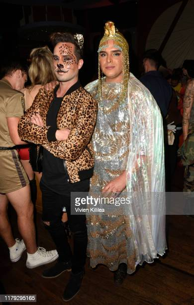 Jordan Kuker and Markus Molinari attend Podwall Entertainment's 10th Annual Halloween Party presented by Maker's Mark on October 31 2019 in West...