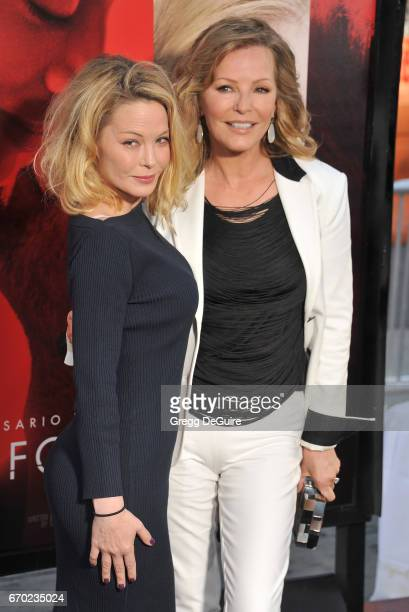 Jordan Ladd and Cheryl Ladd arrive at the premiere of Warner Bros Pictures' Unforgettable at TCL Chinese Theatre on April 18 2017 in Hollywood...