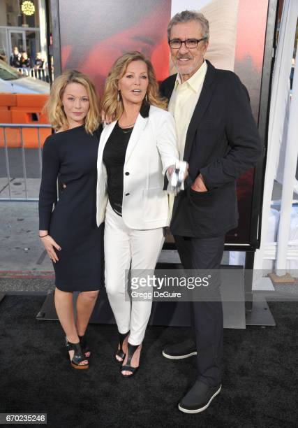 Jordan Ladd Cheryl Ladd and Brian Russell arrive at the premiere of Warner Bros Pictures' Unforgettable at TCL Chinese Theatre on April 18 2017 in...
