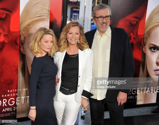 Jordan Ladd Cheryl Ladd and husband Brian Russell arrive at the premiere of Warner Bros Pictures' Unforgettable at TCL Chinese Theatre on April 18...