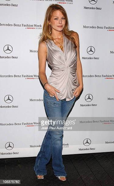 Jordan Ladd during MercedesBenz Spring 2005 Fashion Week at Smashbox Studios Day 4 Arrivals at Smashbox Studios in Culver City Califonia United States