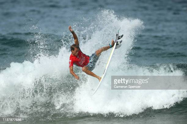 Jordan Lawler of Australia competes in the men's final of the Sydney Surf Pro at Manly Beach on March 24 2019 in Sydney Australia