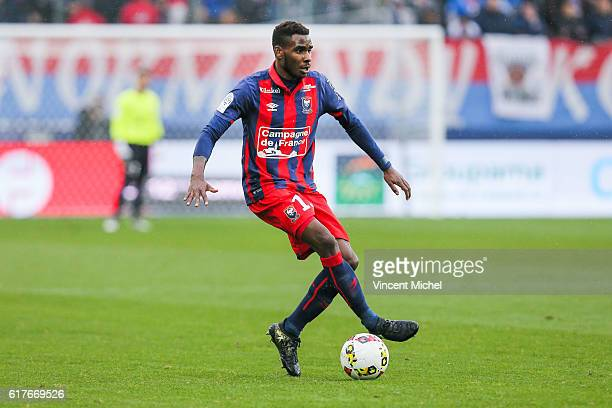 Jordan Leborgne of Caen during the Ligue 1 match between SM Caen and AS Saint-Etienne at Stade Michel D'Ornano on October 23, 2016 in Caen, France.