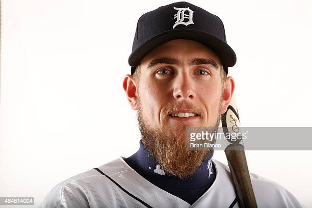 Jordan Lennerton of the Detroit Tigers poses for a photo during the Tigers' photo day on February 28 2015 at Joker Marchant Stadium in Lakeland...