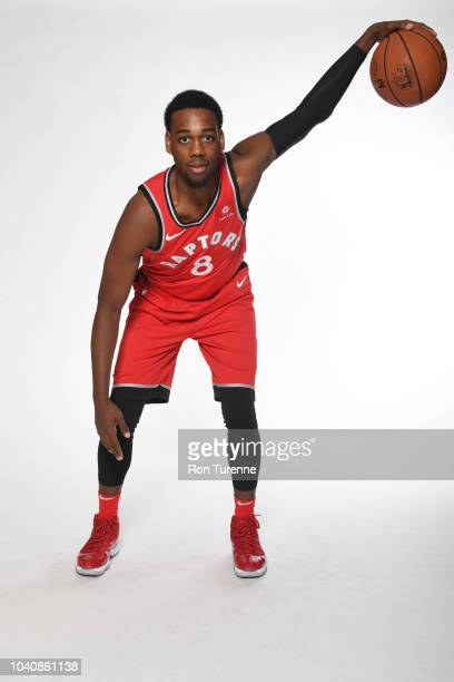 Jordan Loyd of the Toronto Raptors poses for a portrait at media day on September 24 2018 at the Air Canada Centre in Toronto Ontario Canada NOTE TO...