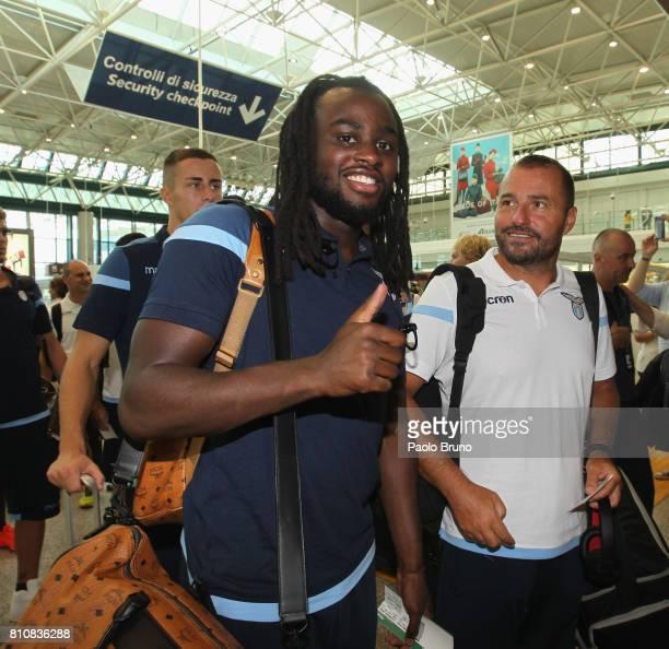 Jordan Lukaku head coach of SS Lazio departs for preseason training camp on July 8 2017 in Rome Italy