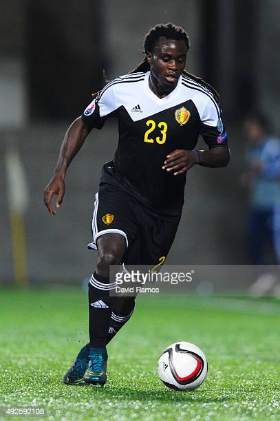 Jordan Lukaku of Belgium runs with the ball during the UEFA EURO 2016 Qualifier match between Andorra and Belgium at Estadi Nacional d'Andorra la...