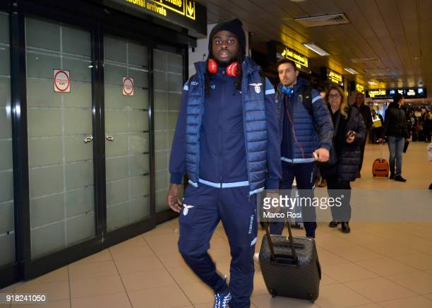 Jordan Lukaku of SS Lazio as SS Lazio travel to Bucharest on February 14 2018 in Rome Italy