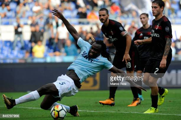 Jordan Lukaku of SS Lazio during the Serie A match between SS Lazio and AC Milan at Stadio Olimpico on September 10 2017 in Rome Italy