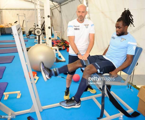 Jordan Lukaku of SS Lazio during the SS Lazio PreSeason Training Camp on July 15 2017 in Pieve di Cadore Italy