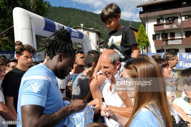 Jordan Lukaku of SS Lazio during the to visit Lazio Style Village on July 15 2017 in Pieve di Cadore Italy
