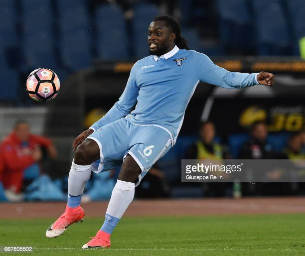 Jordan Lukaku of SS Lazio in action during the Serie A match between SS Lazio and SSC Napoli at Stadio Olimpico on April 9 2017 in Rome Italy