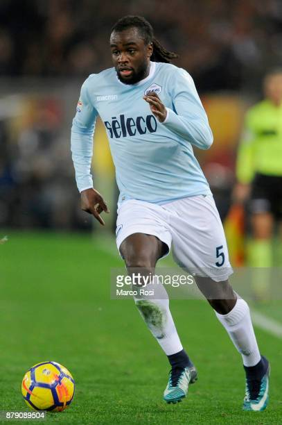 Jordan Lukaku of SS Lazio in action during the Serie A match between AS Roma and SS Lazio at Stadio Olimpico on November 18 2017 in Rome Italy