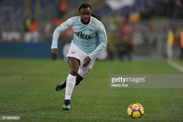 Jordan Lukaku of SS Lazio in action during the Serie A match between SS Lazio and Genoa at Stadio Olimpico on February 5 2018 in Rome Italy