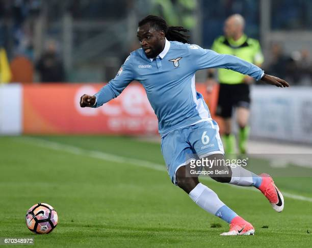 Jordan Lukaku of SS Lazio in action during the TIM Cup match between AS Roma and SS Lazio at Stadio Olimpico on April 4 2017 in Rome Italy