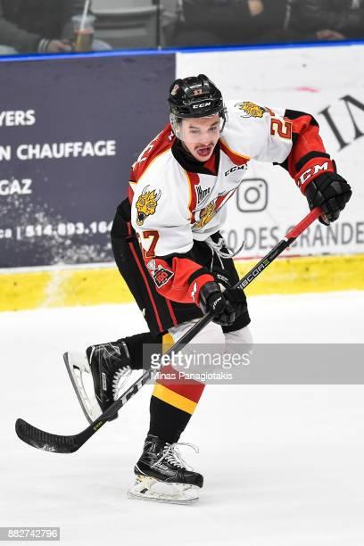 Jordan Martel of the BaieComeau Drakkar skates against the BlainvilleBoisbriand Armada during the QMJHL game at Centre d'Excellence Sports Rousseau...