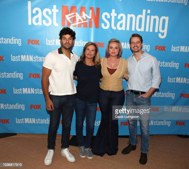 Jordan Masterson Nancy Travis Amanda Fuller and Christoph Sanders attend FOX Celebrating the premiere of Last Man Standing with the Last Fan Standing...