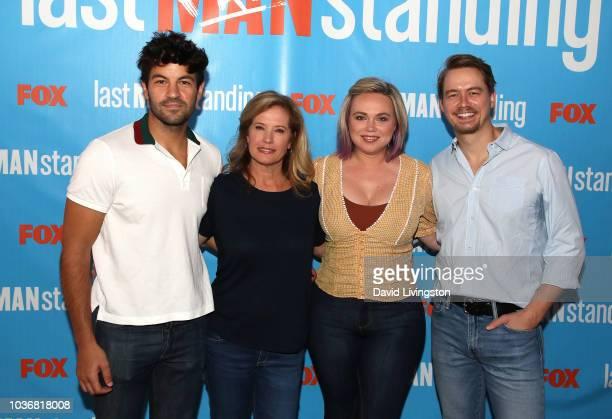 Jordan Masterson Nancy Travis Amanda Fuller and Christoph Sanders attend FOX Celebrating the premiere of 'Last Man Standing' with the 'Last Fan...