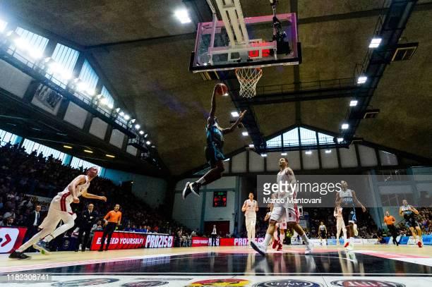 Jordan Mathews of Vanoli in action during the LBA LegaBasket of Serie A match between Vanoli Cremona and AX Armani Exchange Olimpia Milan at Pala...