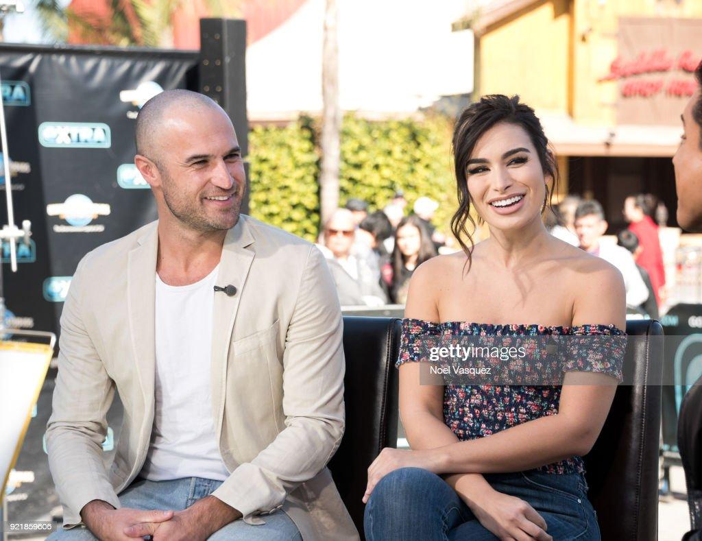 Ashley Iaconetti, Jordan Mauger And Tameka Cottle Visit 'Extra' : News Photo