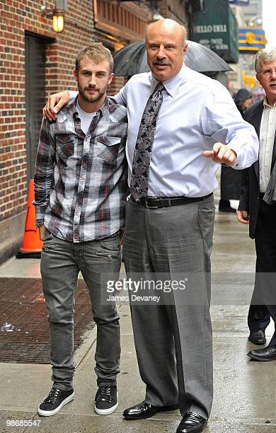 Jordan McGraw and Dr Phil visit Late Show With David Letterman at the Ed Sullivan Theater on April 26 2010 in New York City