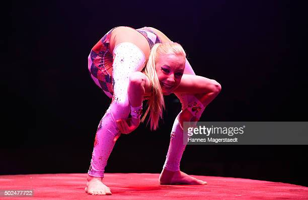 Jordan McKnight during the 'Circus Krone Christmas Show 2015' at Circus Krone on December 25 2015 in Munich Germany