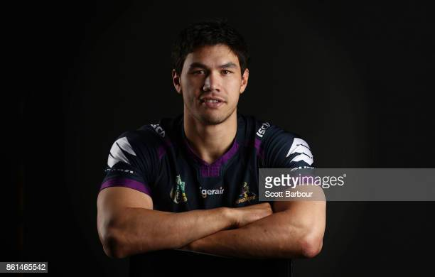 Jordan McLean of the Storm poses for a portrait during a Melbourne Storm NRL training session at Gosch's Paddock on September 25 2017 in Melbourne...