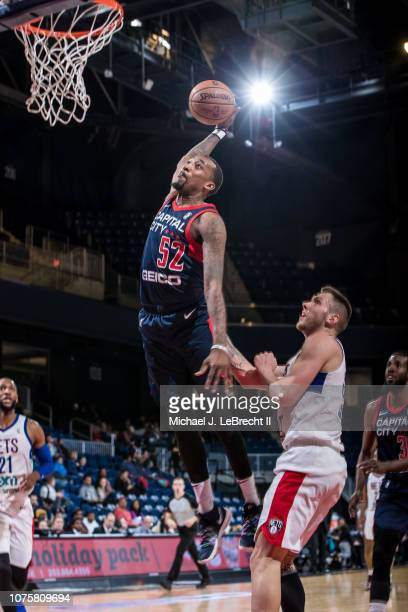 Jordan McRae of the Capital City GoGo dunks the ball against the Long Island Nets during the NBA G League on December 29 2018 at the Entertainment...