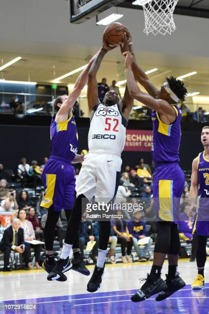 Jordan McRae of the Capital City GoGo goes to the basket against the South Bay Lakers on December 13 2018 at UCLA Heath Training Center in El Segundo...