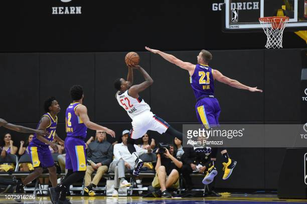Jordan McRae of the Capital City GoGo shoots the basketball against the South Bay Lakers on December 13 2018 at UCLA Heath Training Center in El...