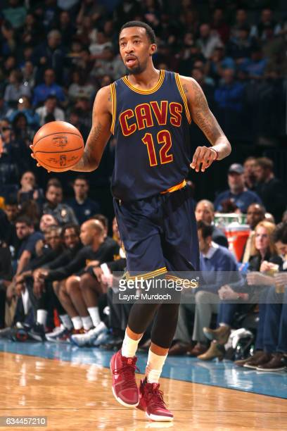 Jordan McRae of the Cleveland Cavaliers handles the ball during the game against the Oklahoma City Thunder on February 9 2017 at Chesapeake Energy...
