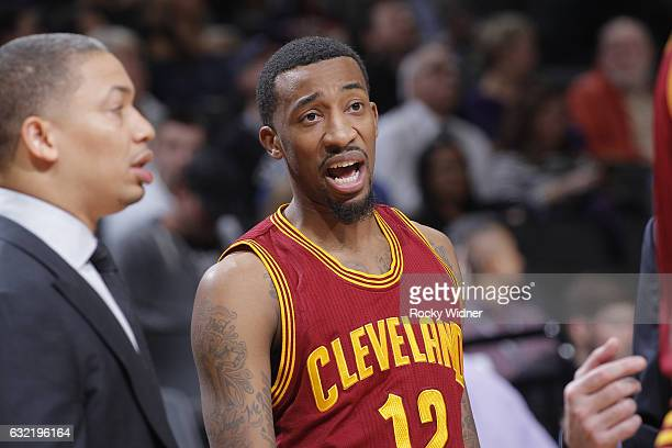 Jordan McRae of the Cleveland Cavaliers looks on during the game against the Sacramento Kings on January 13 2017 at Golden 1 Center in Sacramento...