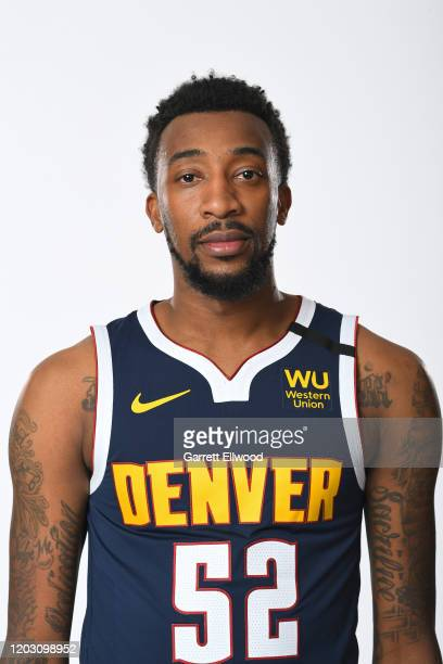 Jordan McRae of the Denver Nuggets poses for a head shot on February 24 2020 at the Pepsi Center in Denver Colorado NOTE TO USER User expressly...