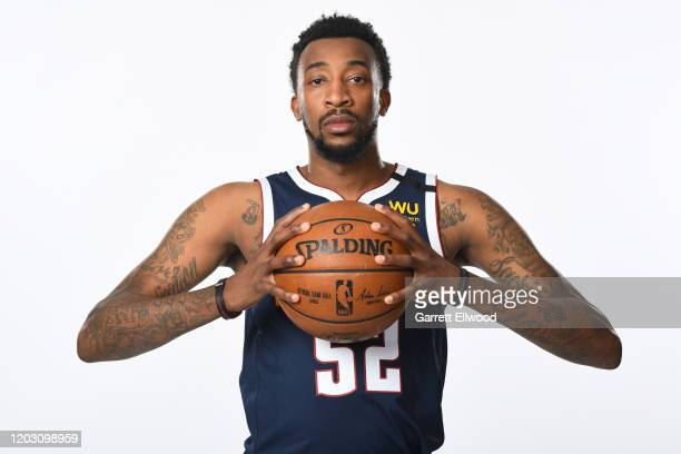 Jordan McRae of the Denver Nuggets poses for a portrait on February 24 2020 at the Pepsi Center in Denver Colorado NOTE TO USER User expressly...
