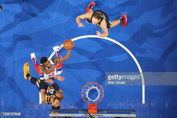 Jordan McRae of the Detroit Pistons shoots the ball against the Utah Jazz on March 7 2020 at Little Caesars Arena in Detroit Michigan NOTE TO USER...