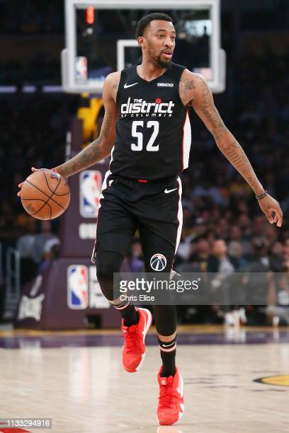Jordan McRae of the Washington Wizards handles the ball against the Los Angeles Lakers on March 26 2019 at STAPLES Center in Los Angeles California...