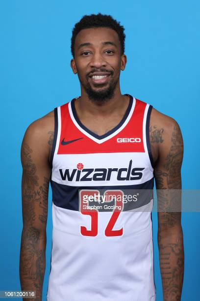 Jordan McRae of the Washington Wizards poses for a head shot during media day at the Entertainment and Sports Arena at St Elizabeth's on September 24...