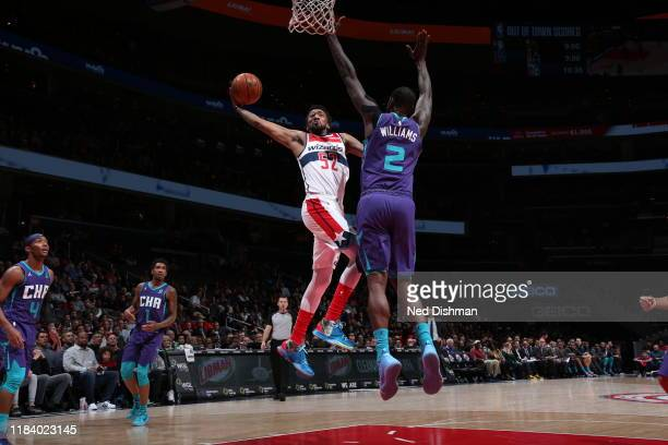 Jordan McRae of the Washington Wizards shoots the ball against the Charlotte Hornets on November 22 2019 at Capital One Arena in Washington DC NOTE...