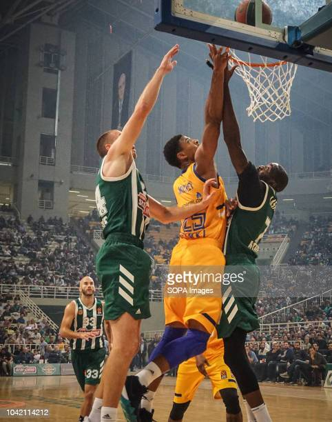 Jordan Mickey of BC Khimki in action during the tournament Pavlos Giannakopoulos between Panathinaikos and Khimki at Athens Olympic Indoor Hall