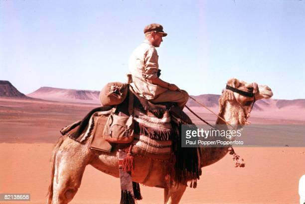 Jordan Middle East Circa 1962 British actor Peter O'Toole is pictured riding a camel in the title role of the film 'Lawrence of Arabia'
