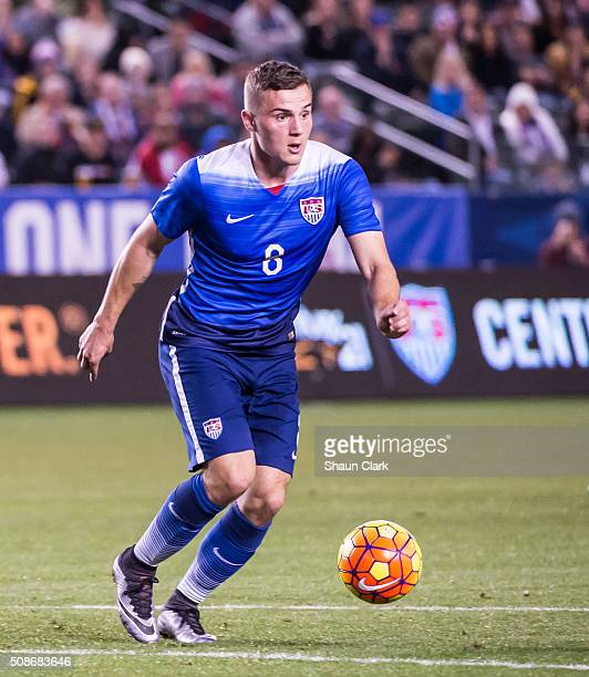 Jordan Morris of the United Statesduring the International Soccer Friendly match between the United States and Canada at the StubHub Center on...