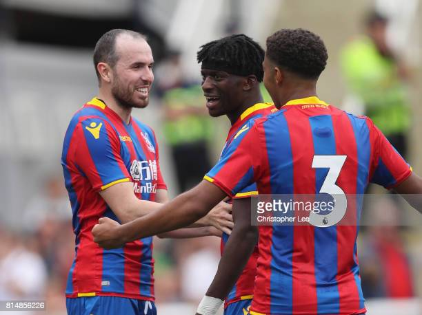 Jordan Mutch of Crystal Palace celebrates scoring their second goal during the Pre Season Friendly match bewteen Maidstone United and Crystal Palace...